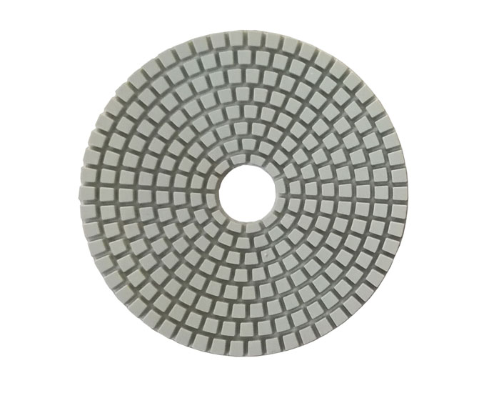 Wet dry diamond polishing pad